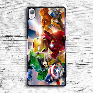 The Lego Avengers Sony Xperia Case, iPhone 4s 5s 5c 6s Plus Cases, iPod Touch 4 5 6 case, samsung case, HTC case, LG case, Nexus case, iPad cases