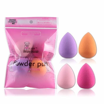 Professional 4pcs set Mini Beauty Flawless Makeup Blender Foundation Puff Multi Shape Sponges Cosmetic HB88
