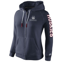 UConn Huskies Nike Womens Rally Full Zip Hoodie - Navy Blue