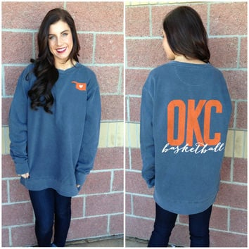 OKC basketball comfort colors sweatshirt-more colors