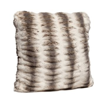 Truffle Chinchilla Faux Fur Pillows by Fabulous Furs