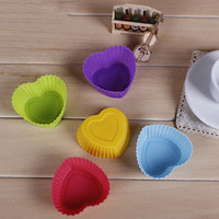 10 PCS Hot sale 7cm Heart Rose Silicone Ice Tray Cube Chocolate Butter Mold Shaper DIY Mold