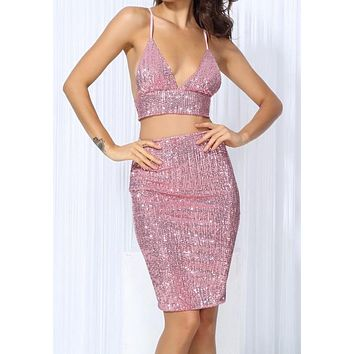 Volatina Pink Luxury Two-Piece Dress
