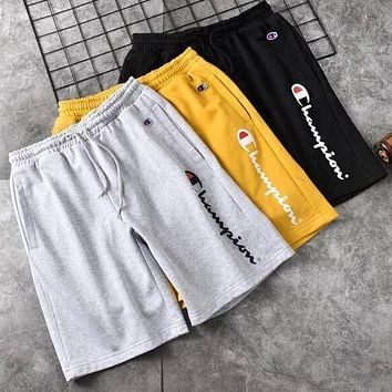 Champion Hot Sale Women Men Fashion Sports Running Shorts