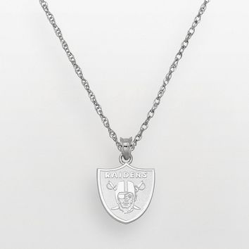 Oakland Raiders Sterling Silver Logo Pendant