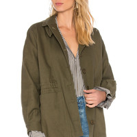 APIECE APART Garrapata Drawstring Jacket in Military | REVOLVE