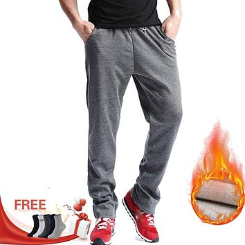 E-BAIHUI new Men Gyms pants Mid Cotton Men's Sporting workout fitness Pants casual sweatpants jogger pant skinny trousers MJ002