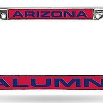 Arizona Wildcats ALUMNI LASER FRAME Chrome License Plate Tag Cover University of