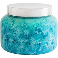 Capri Blue 48 oz. Watercolor Collection Jar Candle-Mint-Volcano