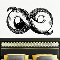 Wall Decal Octopus Infinity sign Tentacles Fish Deep Sea Ocean Animals Vinyl Sticker Decals Home Decor Art Bedroom Design Interior C93