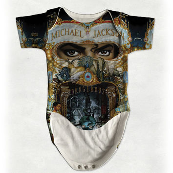 Michael Jackson Dangerous King Of Pop Star Baby Onesuit, Romper, Baby Grow