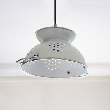 colander lamp vintage by boeliedesign on Etsy