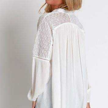 Billowing Lace Blouse