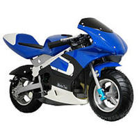 MotoTec Gas Pocket Bike Motorcycle - Blue