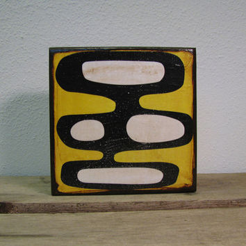 Abstract Atomic Mid Century Modern Art Block Painting -- MatchBlox--1663 As seen on Guys With Kids