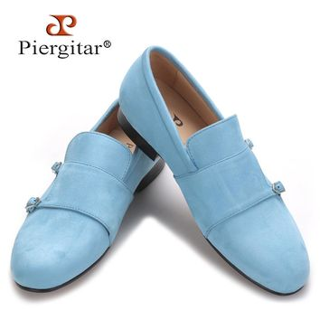 Piergitar 2017 men velvet shoe with velvet Hasp Party and Banquet loafers