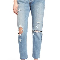 Levi's® '501 CT' Crop Distressed Boyfriend Jeans (Time Gone By) | Nordstrom