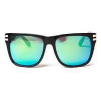 sabre vision - heart breaker sunglasses (black gloss/green mirror) - Sabre Vision | 80's Purple