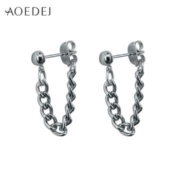 AOEDEJ Stud Earrings Men 2018 Tassel Earrings For Men Womens Vintage Earring Fashion Jewelry Biker Punk Earrings Studs
