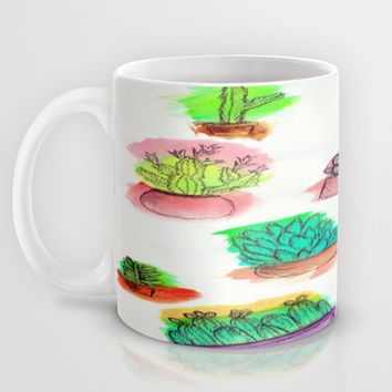 Colored Cactus Mug by Yuval Ozery