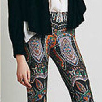 Paisley Printed Lounge Stretch Pant