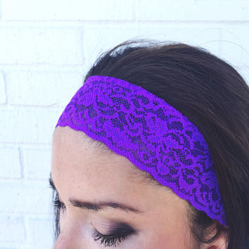 Yoga Headband in Bright Purple
