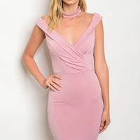 C30-A-6-D6069 MAUVE CHOKER DRESS 2-2-2
