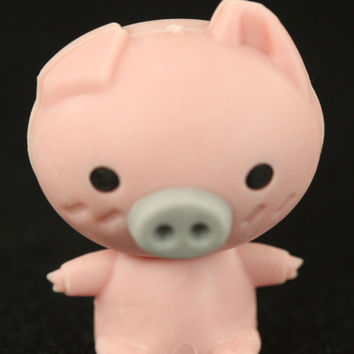Pink Pig With Grey Snout
