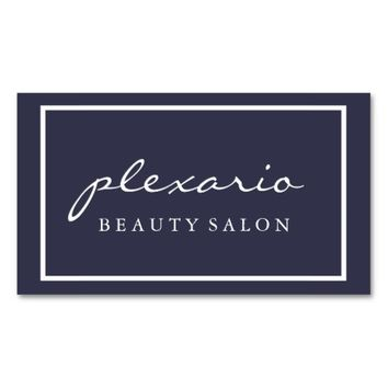 Frame BLUE Modern Beauty Salon Business Card