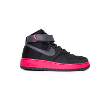 NIKE air force 1 high womens satin black + pink shoes - deadstock nikes - hi top sneakers - 334031-001 - mens 7.5 / womens 9