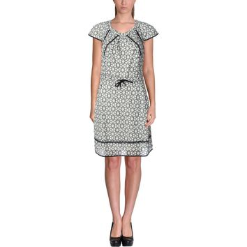 Timo Weiland Womens Eyelet Cap Sleeves Wear to Work Dress