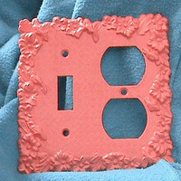 Vintage Light Plate And Electrical Outlet Plate In One.
