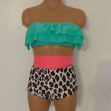 cheetah Fringe retro Bikini VERY LIMITED