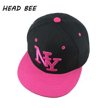 [HEAD BEE] 2017 Fashion Children NY Letter Baseball Cap Kid Boys and Girls Adjustable Hip Hop Hat Casquette