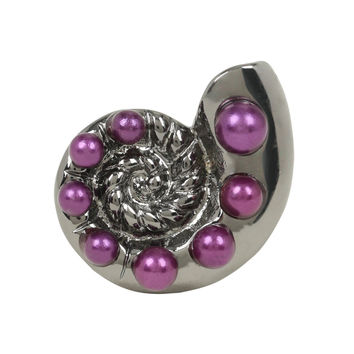 Disney The Little Mermaid Silver & Purple Shell Ring