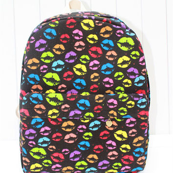 Punk Canvas Print Sexy Backpack = 4887576580