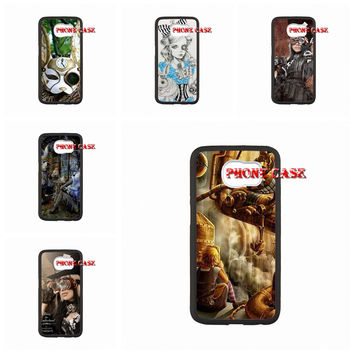 For Samsung Galaxy s3 S4 s5 note 2 note 3 note 4 Case Back Steam Punk Alice in Wonderland cell phone case