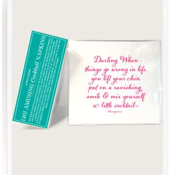 Darling. When Things Go Amusing Cocktail Napkins