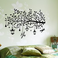 Wall Vinyl Decal Kids Room Branch With Toys Children Nursery Decor Unique Gift (z3650)