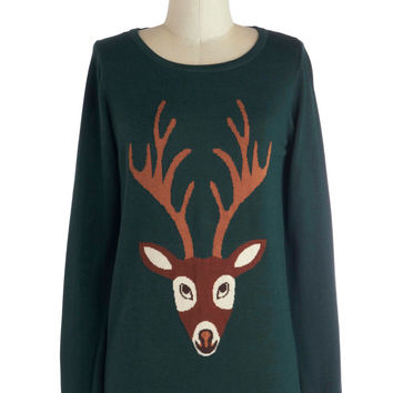 From Deer to Eternity Sweater | Mod Retro Vintage Sweaters | ModCloth.com