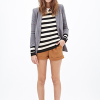 FOREVER 21 Striped Cable Knit Sweater