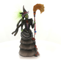 Wizard Of Oz WICKED WITCH OF THE WEST Polyresin Broom Green 4040905