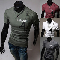 Slim Fit Round Neck Men Fashion Tee