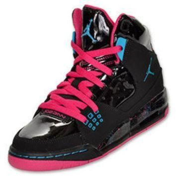 DCK7YE Girls' Grade School Jordan Flight SC 1 Basketball Shoes