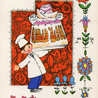 With A Holiday! (Artist I. Iskrinskaya) Vintage Postcard - Printed in the USSR, «Soviet Artist», Moscow, 1968