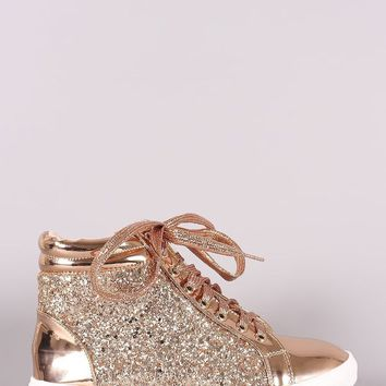 Ann Arbor Encrusted-Glitter Lace Up High Top Sneaker