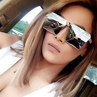 2017 Women Sunglasses Unique Oversize Shield UV400 Gradient Vintage Eyeglasses