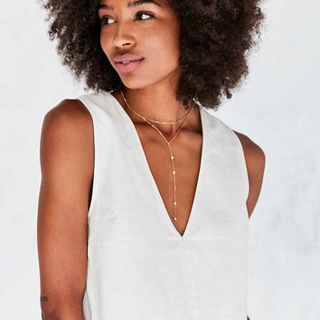 Silence + Noise Sabrielle Fray-Hem Tank Top - Urban Outfitters