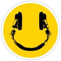 Smiley DJ sticker