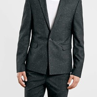 Black Slub Skinny Fit Co-Ord - Mens Suits - Suits - TOPMAN USA